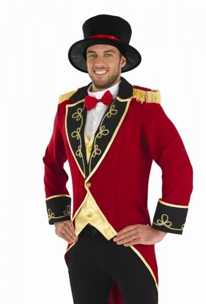 Mens Ringmaster Costume For Circus Fancy Dress Adults Male