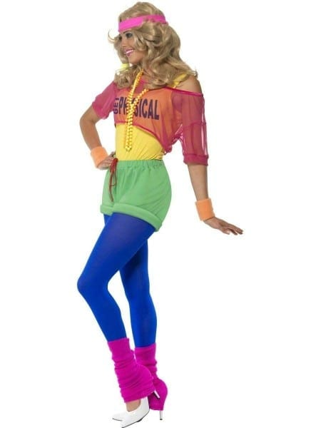 Adult 80's Let's Get Physical Girl Costume