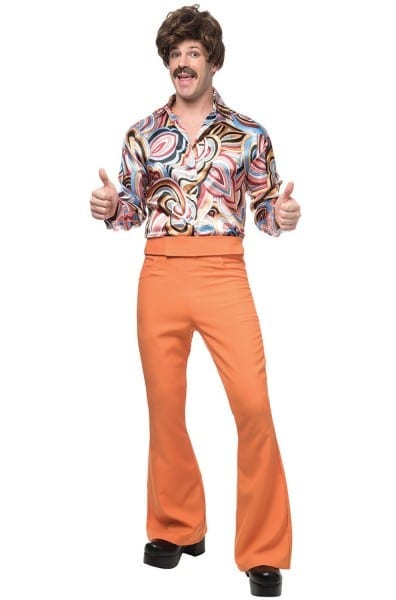 70's Dude Adult Costume (rust)