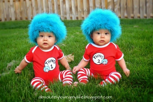 Loving Life  Diy Thing 1 And Thing 2 Baby Costumes