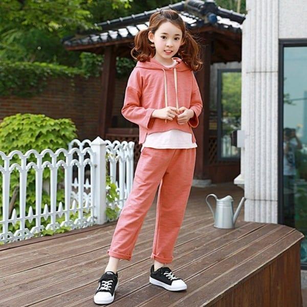 2017 Autumn Girls Fashion Outfit 2 Pcs Clothes Orange Halloween