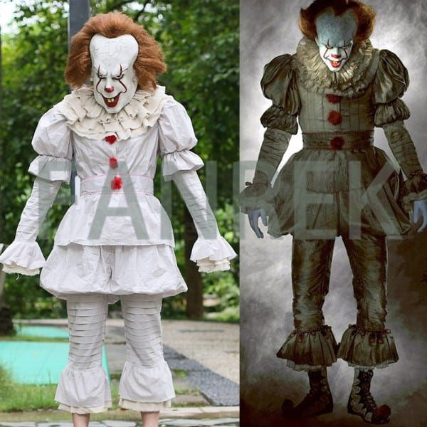 2017 Stephen King's It Pennywise Full Suit Cosplay Halloween Costume