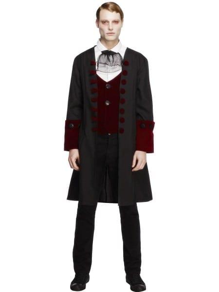 Mens Vampire Costume Very Cool True Vamp Halloween Gothic Dracula