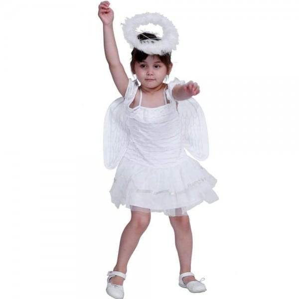 Cute Kids Girls Costumes Angel Halloween Outfits Performance