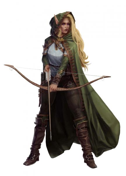 Female Elf Archer Fighter Or Ranger