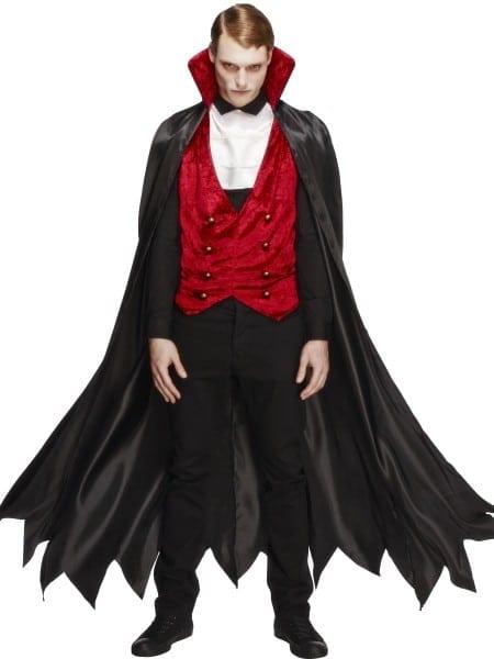 Adult Fever Cool Vampire Costume Mens Dracula Fancy Dress
