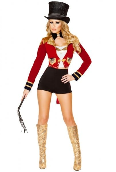 Roma Red Circus Ringleader Jacket Top Hat Costume Upscalecostumes Com