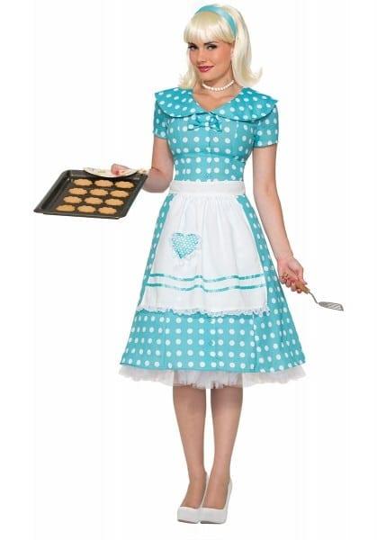 Polka Dot Retro Fifties 50's Style Housewife Costume