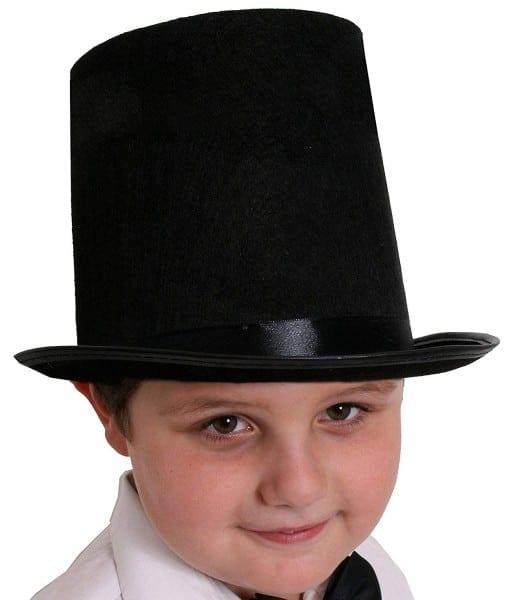 Childs Top Hat Fancy Dress Accessory 55cm Hat Victorian Gent