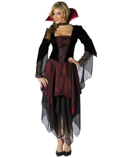 Adult Lady Dracula Plus Size Vampire Halloween Costume