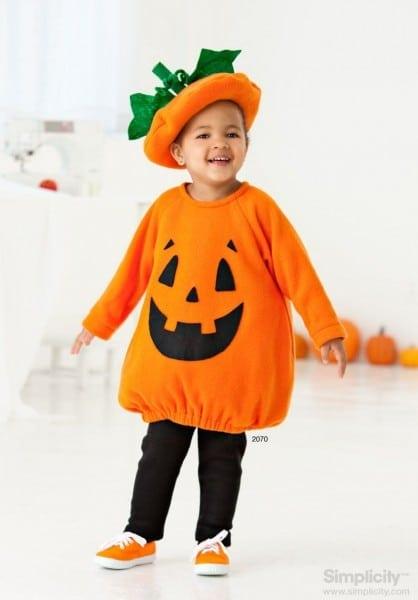 Halloween Pumpkin Costume For Your Toddler