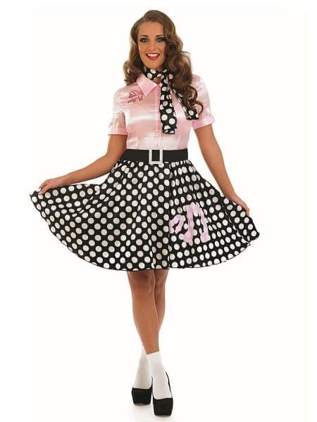 Adult 50s Rock N Roll Girl Costume