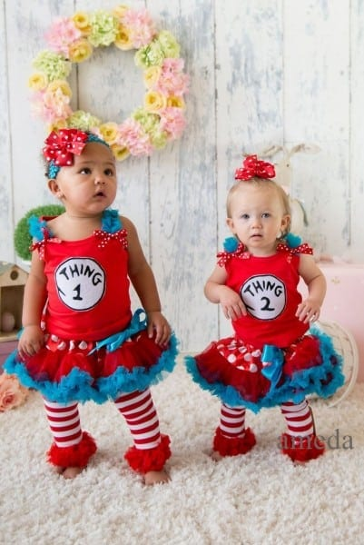 Thing 1 And Thing 2 Shirts Child