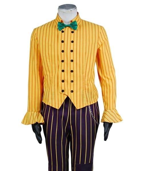 Batman Arkham Asylum Joker Cosplay Costume Uniform Jacket Shirt