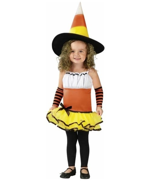 Candy Corn Witch Toddler Halloween Costume