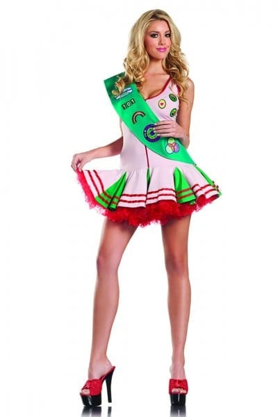 2 Pc Happy Camper Sexy Girl Scout Costume