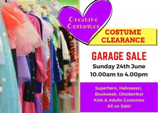 Costume Clearance Garage Sale!