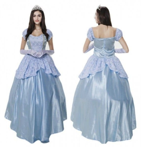 Disney Princess Cinderella Adult Fancy Dress Costume Cosplay