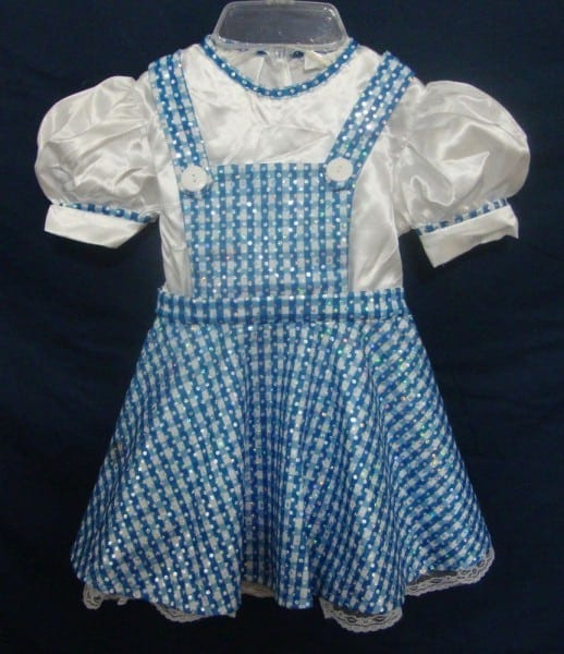 Dorothy Costume Wizard Of Oz Toddler Sparkle Dress Puffy Sleeves