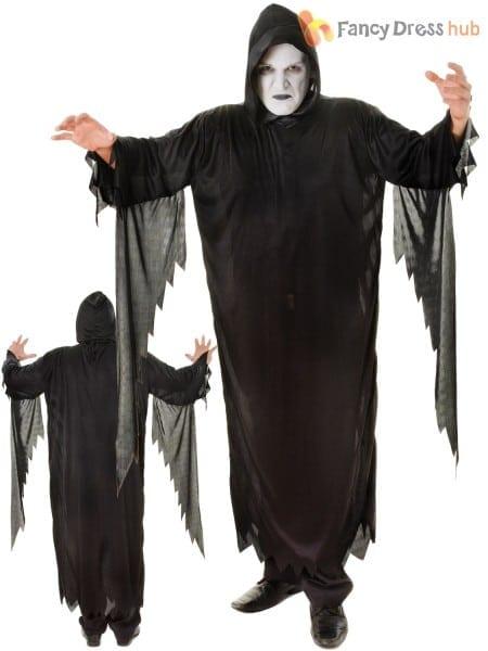 Mens Demon Scream Costume Halloween Adult Reaper Fancy Dress