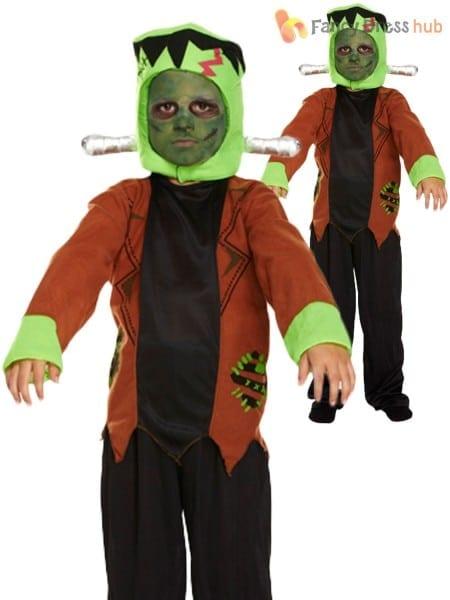 Boys Frankenstein Costume Halloween Horror Kids Childrens Fancy