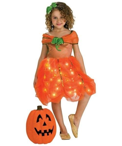 Lite Up Pumpkin Princess Kids Disney Costume