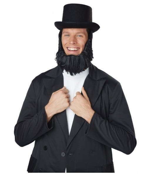 Honest Abe Top Hat With Beard