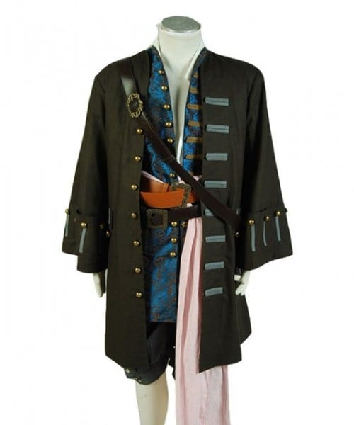 Hot Movie Pirates Of The Caribbean 5 Costume Cosplay Adult Men