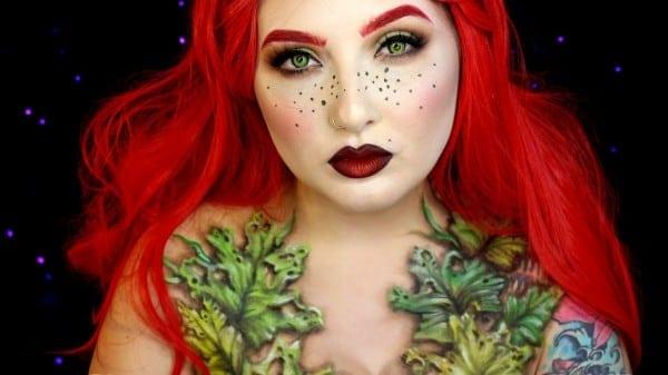 Wilted Poison Ivy Halloween Makeup Tutorial
