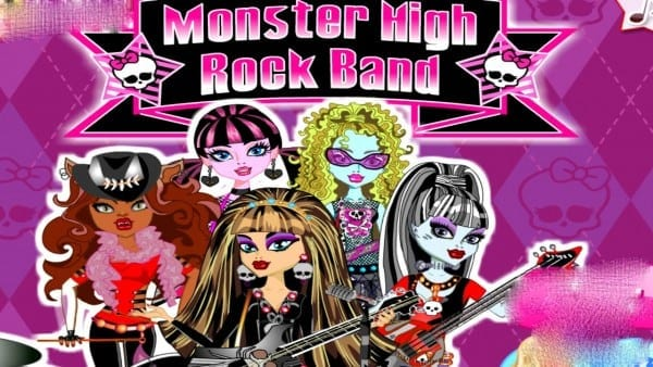 Monster High Rock Band Draculaura Clawdeen Cleo Lagoona And