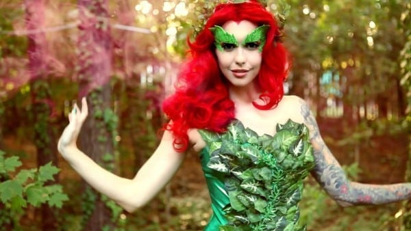 Poison Ivy Makeup & Costume Tutorial