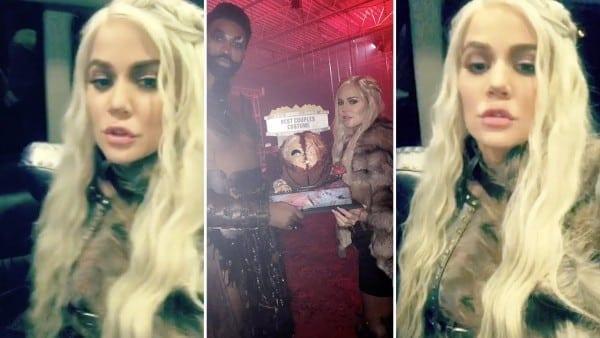 Khloe Kardashian's Daenerys Targaryen Halloween Costume