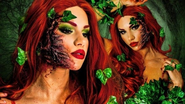 Poison Ivy Halloween Makeup Tutorial! + Diy Costume & Hair!