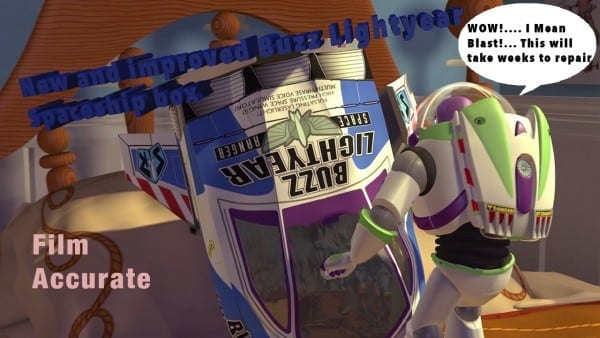 New And Improved Buzz Lightyear Spaceship Box