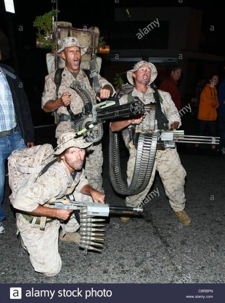 Men In U S  Marine Halloween Costumes 2011 West Hollywood Costume