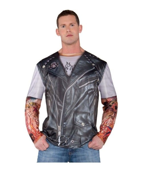 Tattooed Biker Mens Costume