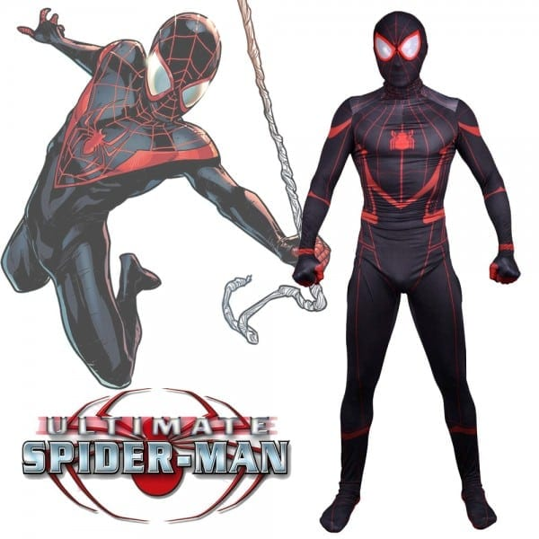 New Ultimate Spider Man Costume Miles Morales Spider Boy Cosplay
