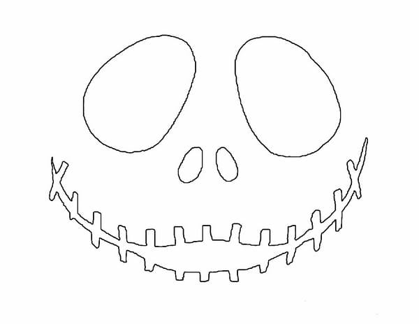 Printable Pumpkin Carving Patterns Jack Skellington