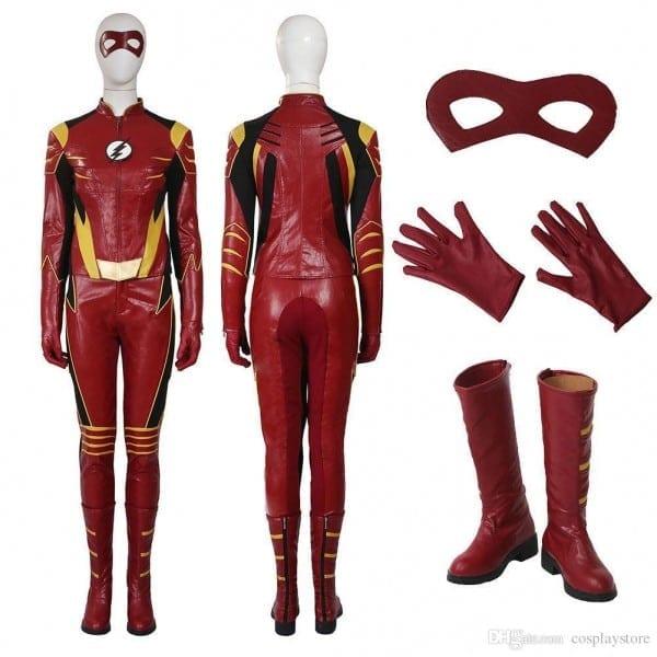 The Flash Season 3 Jesse Quick Cosplay Costume Customize Full Suit
