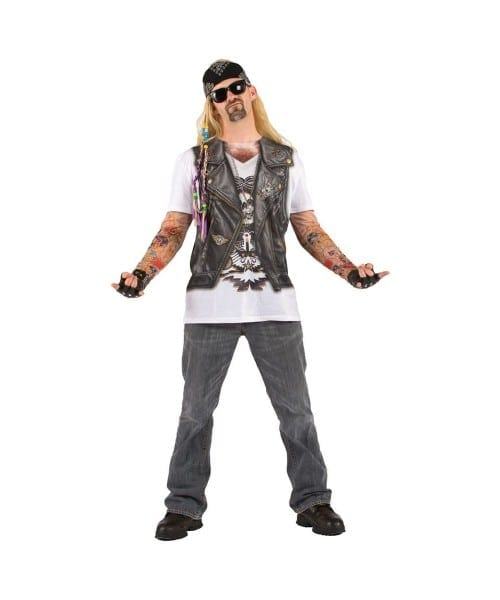 Tattoo Sleeves Biker Costume Shirt