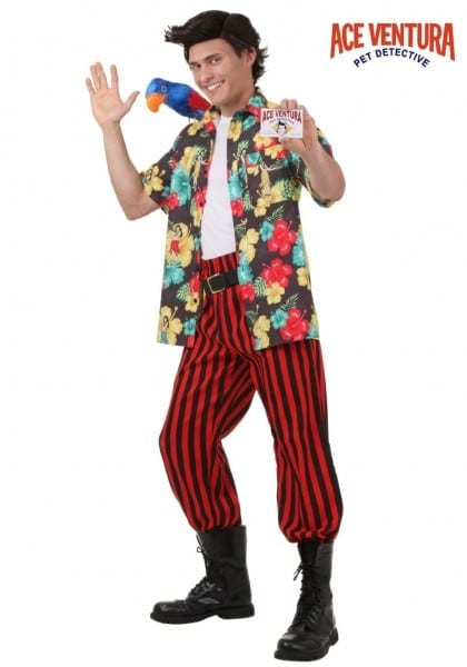 Ventura Costume With Wig Incredible Funny Male Halloween Costumes