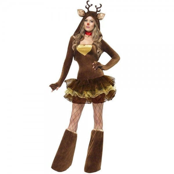 Women's Reindeer Costume Sexy Animal Christmas Costume Outfit