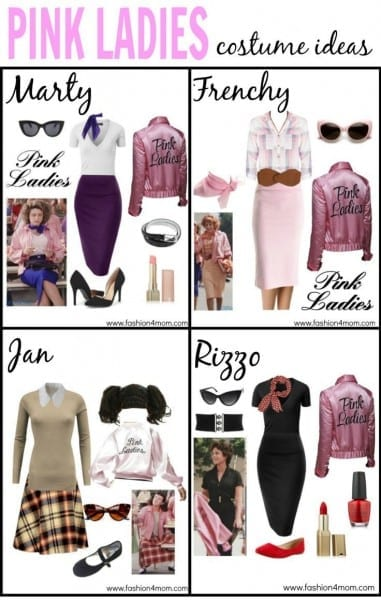 Grease Costume Idea  The Pink Ladies, T Birds, Sandy & Danny Love