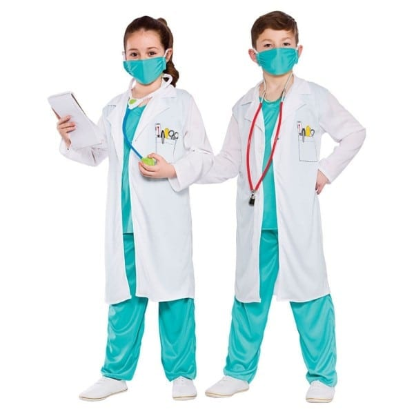 Boys Girls Kids Hospital Doctor Surgeon Vet Medical Unisex Fancy