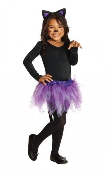 Rubies Toddler Girls Black Purple Cat Halloween Costume Ballerina