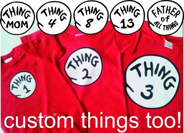 Dr Seuss Thing 1 One Thing 2 Two Thing 3 Three Etc  Infant Toddler