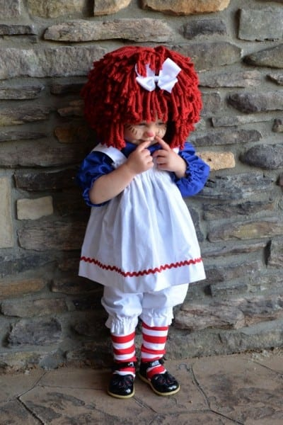 Raggedy Ann Costume Babysize With Wig, And Socks By Mackaboollc On