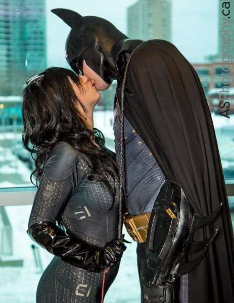 Catwoman & Batman At Toronto Comic Con 2013