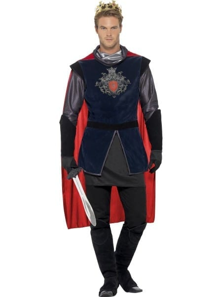 Deluxe Adult King Arthur Costume Mens Medieval Knight Prince Fancy