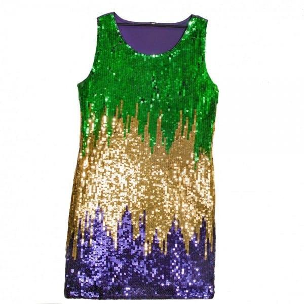 Mardi Gras Sequin Party Dress  Large []